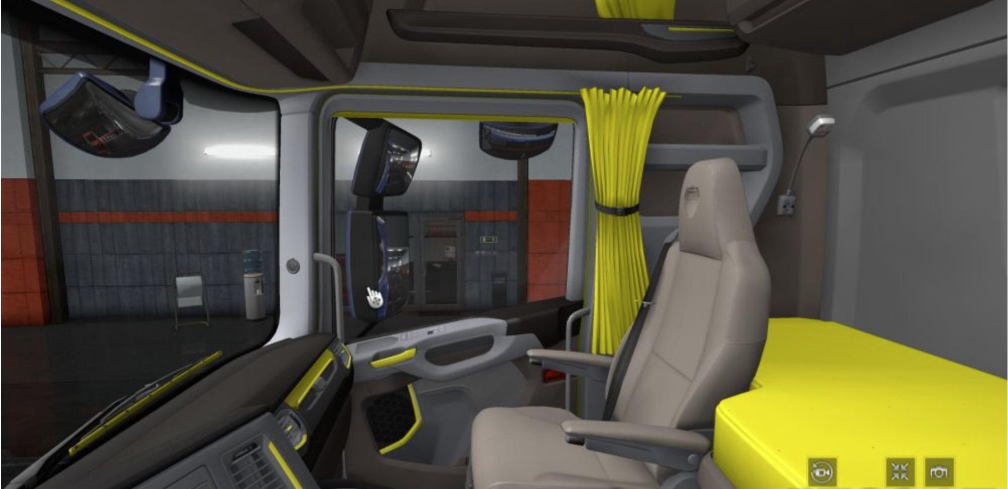 ETS2 - Scania S & R 2016 Grey - Yellow Interior (1.36.x)