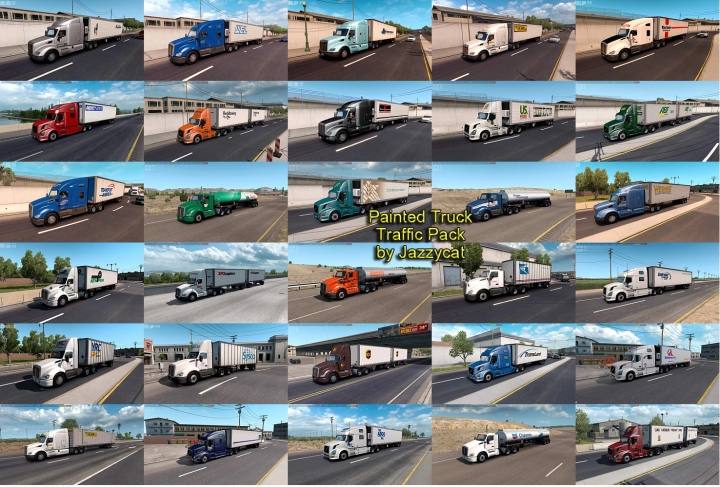 ATS - Painted Truck Traffic Pack V4.3 (1.41.x)