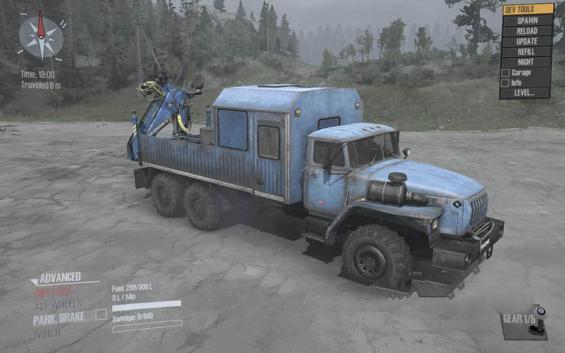 Spintires:Mudrunner - Ural 4320-40 Truck V2.0
