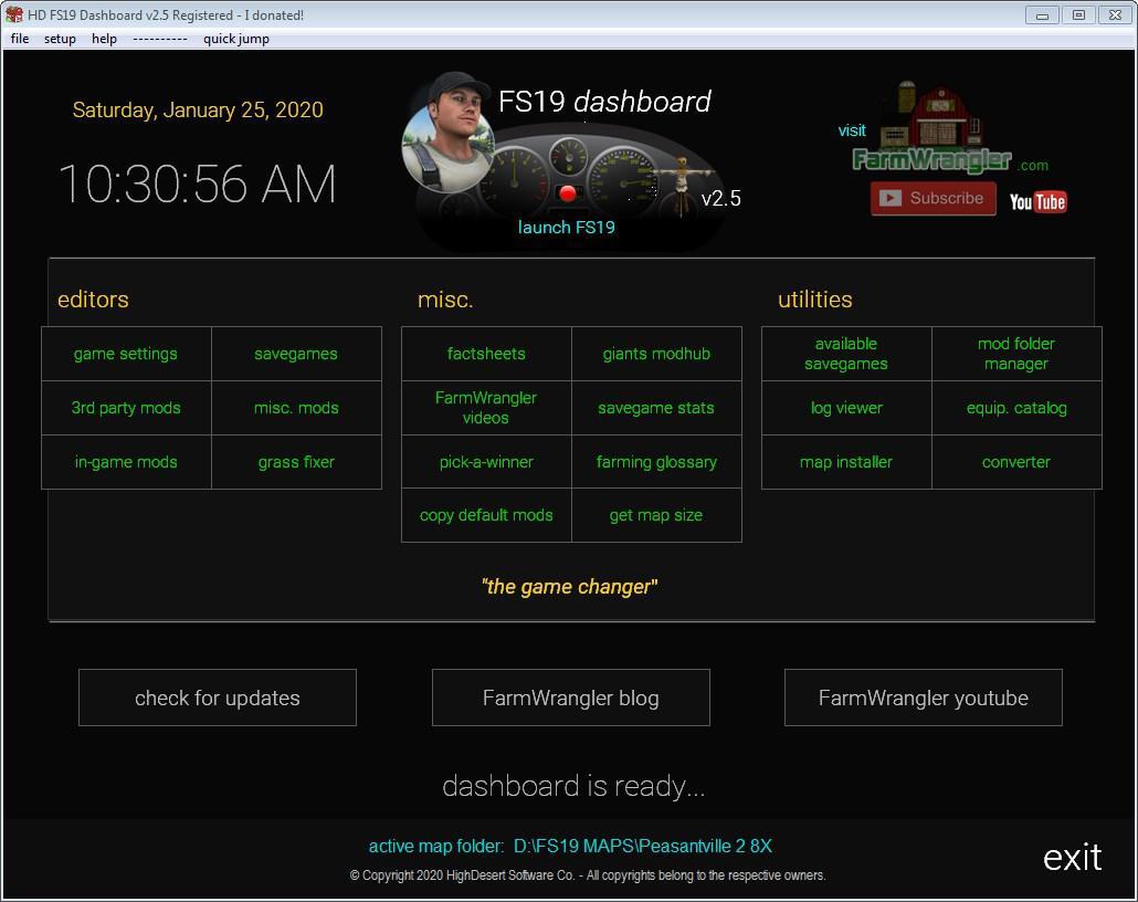 FS19 - Dashboard V2.8
