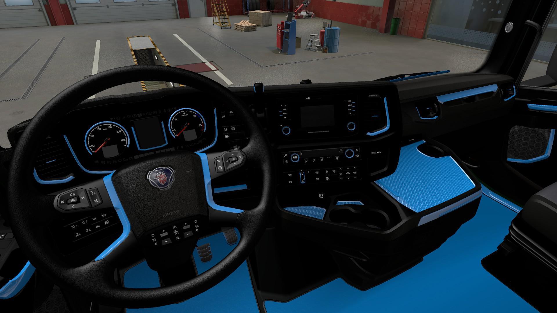 ETS2 - Blue Interior for Scania 2016 V1.0 (1.40.x)