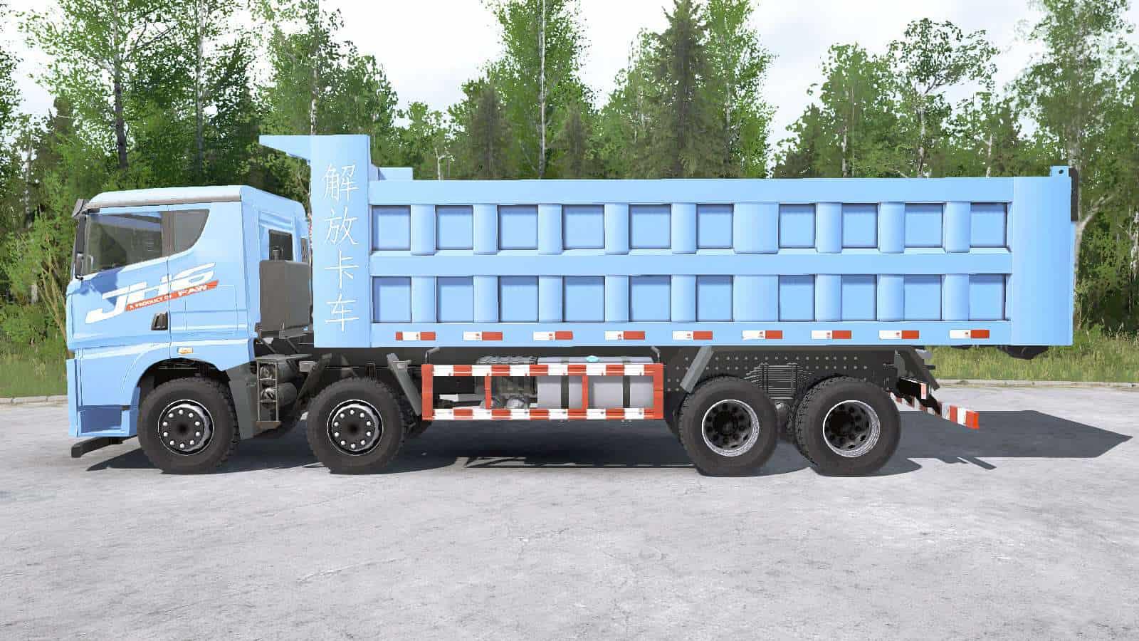 Spintires:Mudrunner - Faw Jiefang JH6 8x8 Dump Truck