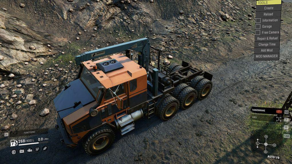 SnowRunner - Derry Longhorn 4520 Blueline-X Truck V1.0