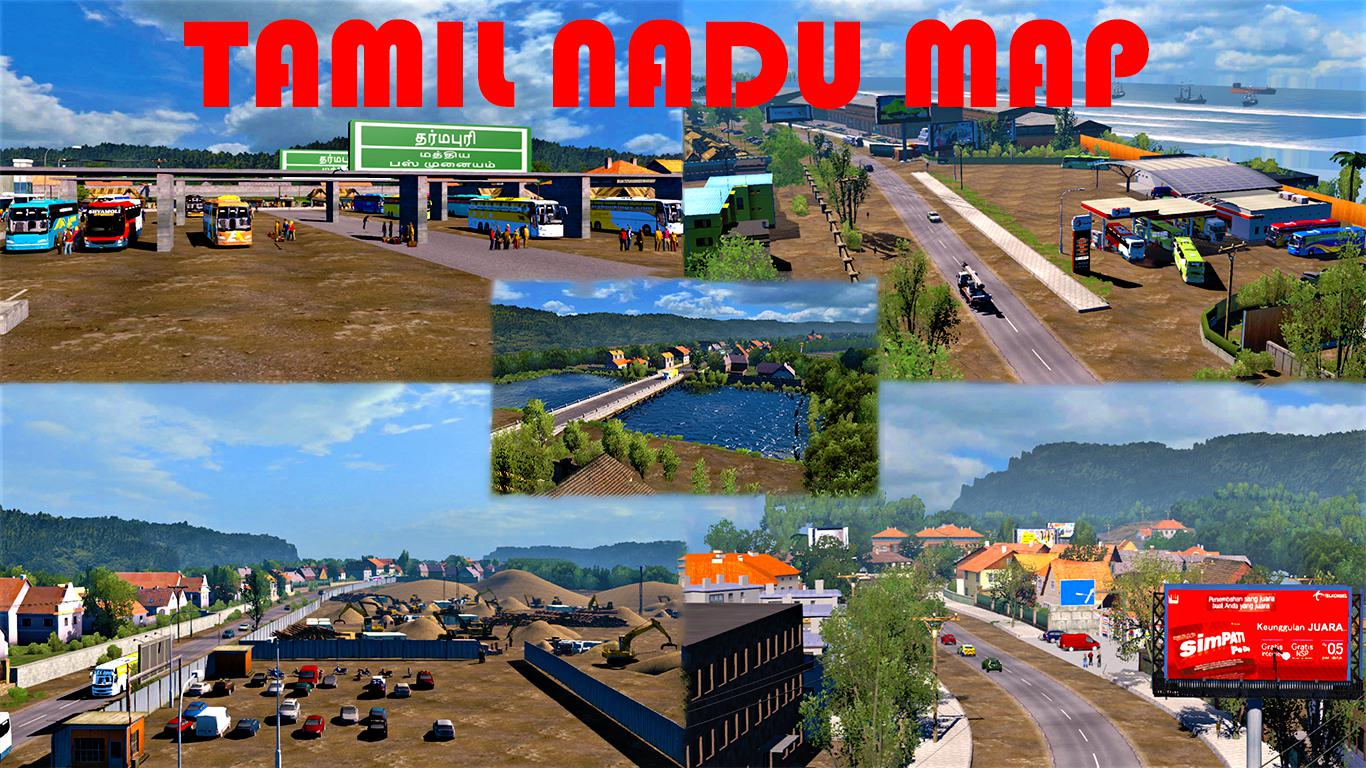 ETS2 - Tamil Nadu Map (1.31-1.35)