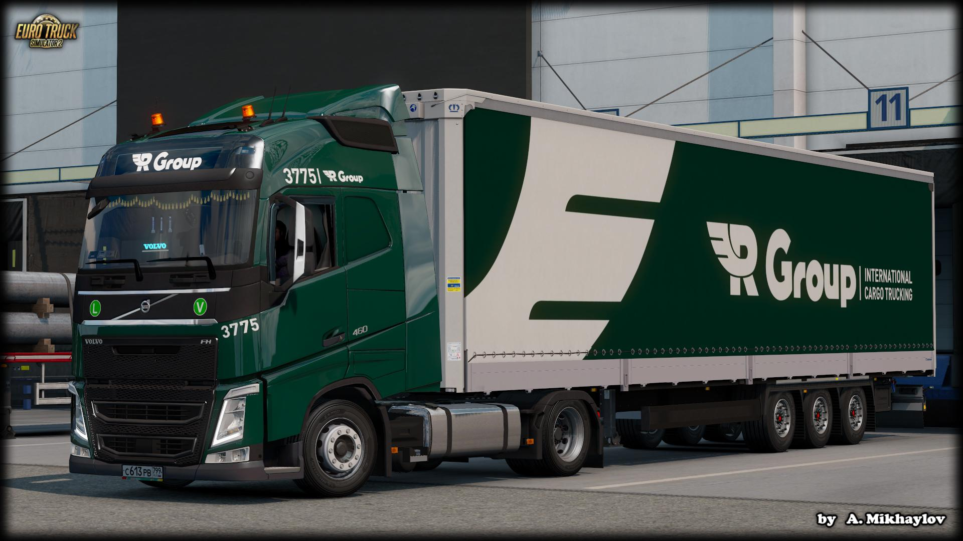 ETS2 - Volvo FH4 R-Group Combo Skin V1.0 (1.36.x)
