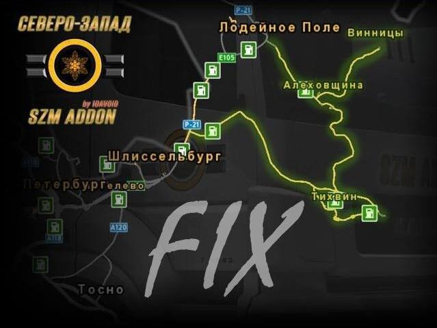 ETS2 - Fix for The SZM Addon Map V1.1 (1.36.x)