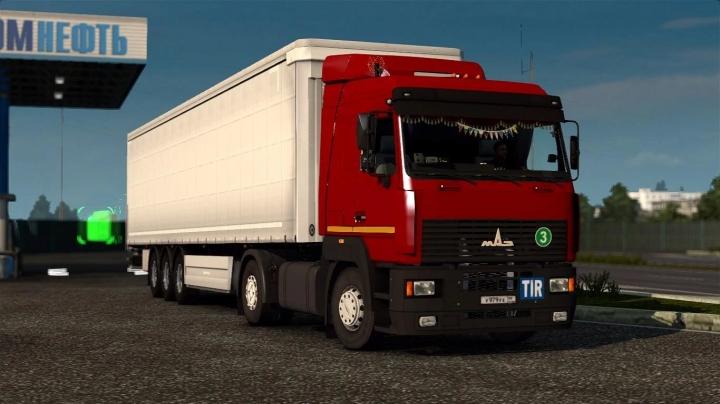 ETS2 - Maz 5340/5440/6430A8 Reworked Truck (1.41.x)