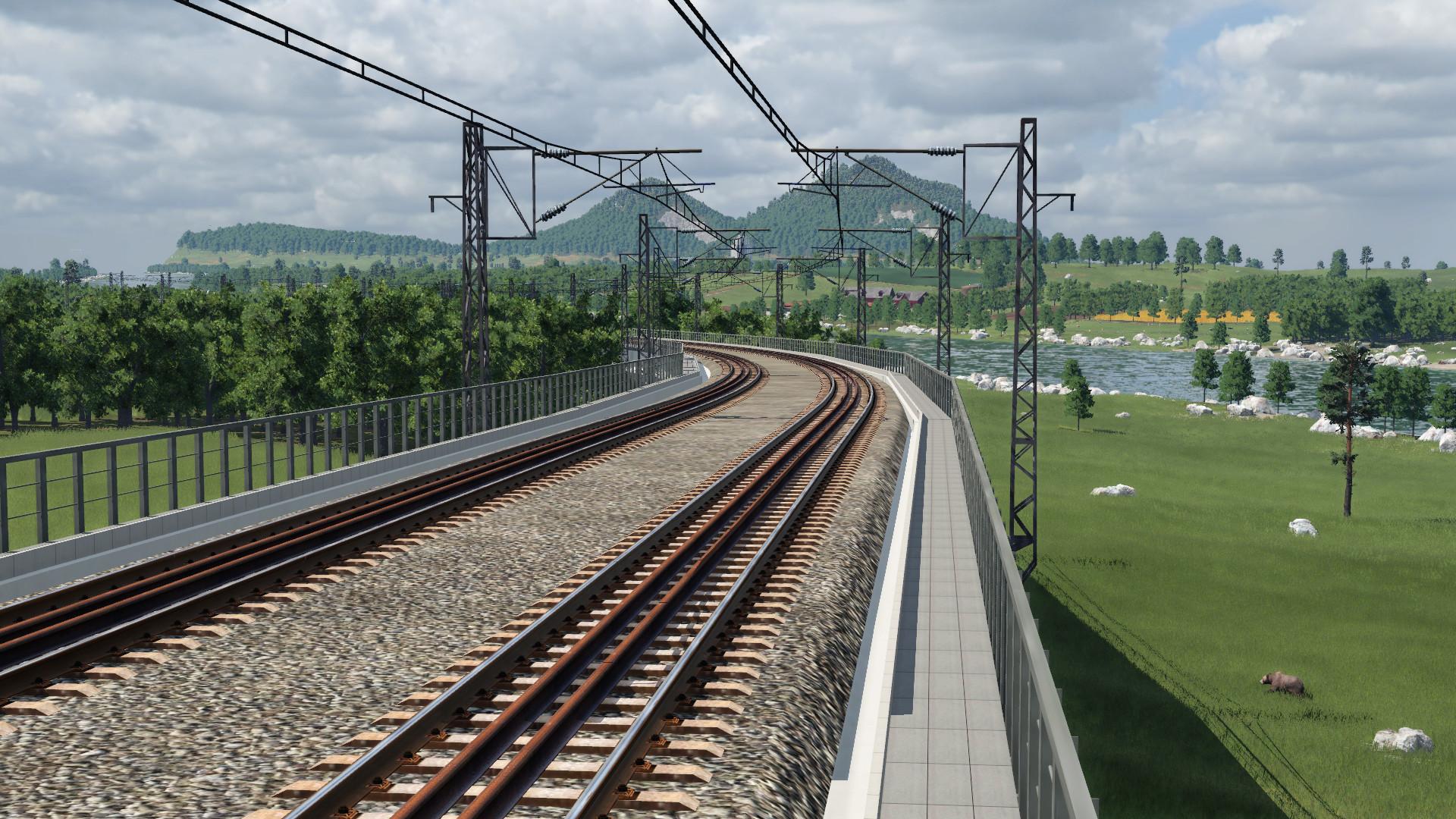 Transport Fever 2 - 160kph T-Beam Bridge of China Railway