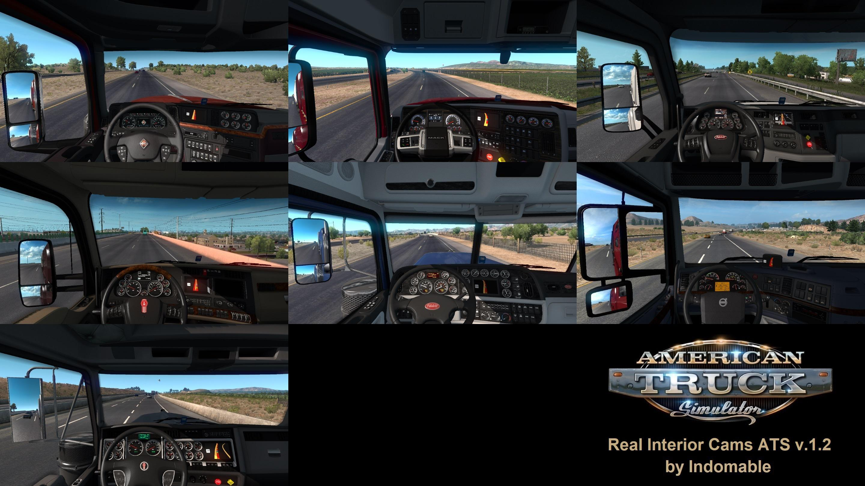 ATS - Real Interior Cams V1.2 (1.38.x)