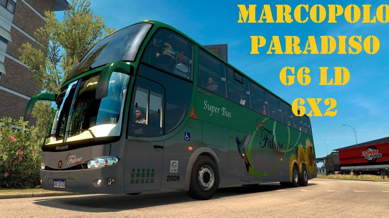 ETS2 - Marcopolo Paradiso G6 LD 6x2 Bus Mod (1.35.x)