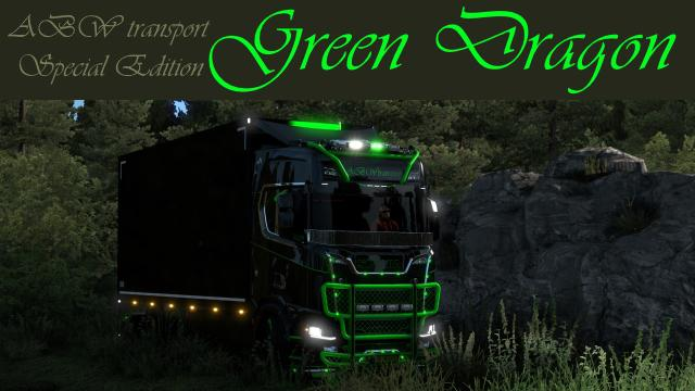 ETS2 - Scania S Green Dragon Skin V1.0 (1.38.x)
