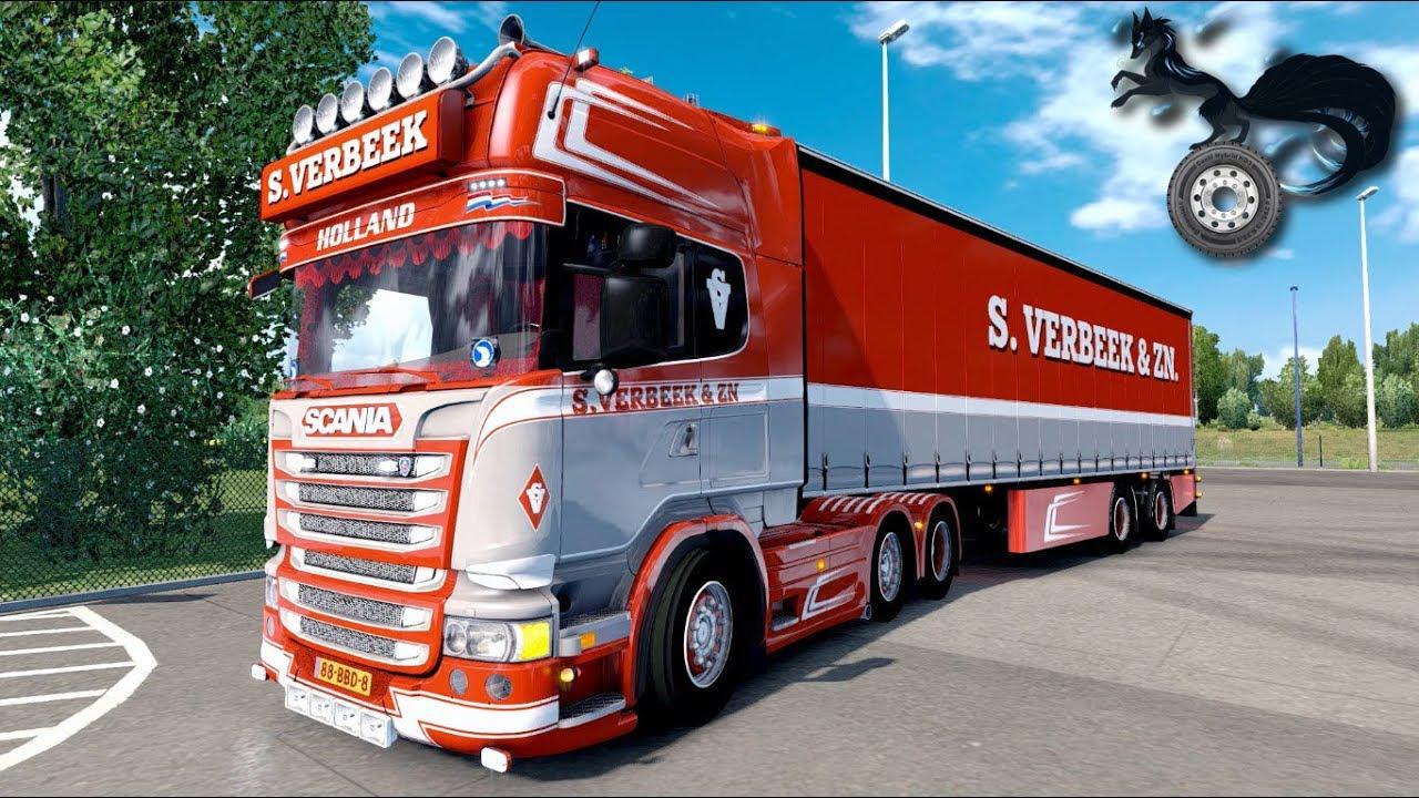 ETS2 - Scania R440 Streamline S.Verbeek Truck V2.0