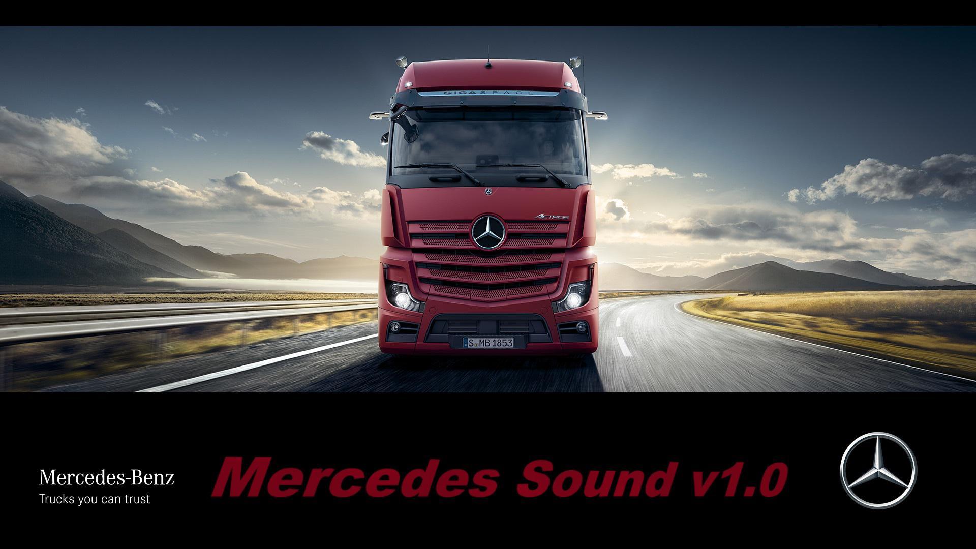 ETS2 - Mercedes Sound Mod V1.0 (1.35.X)