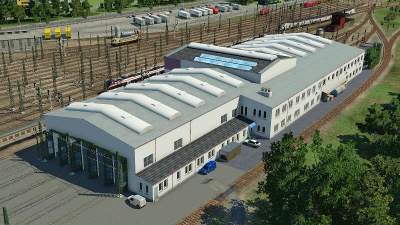 Transport Fever 2 - Depot + Asset Badischer Bahnhof Basel