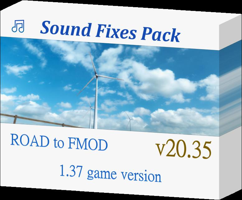 ETS2 - Sound Fixes Pack V20.35 (1.37.x)