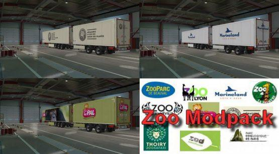 ETS2 - Zoo Trailers Pack V1.0 (1.37.x)