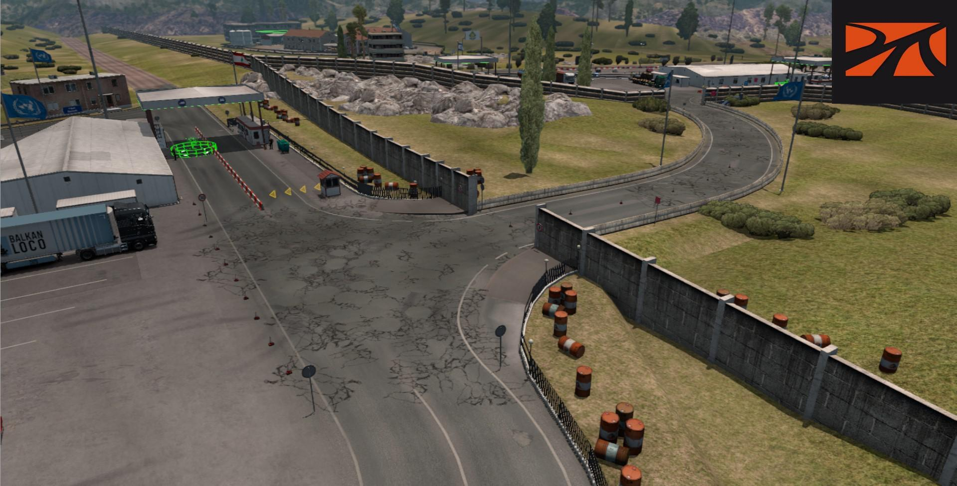 ETS2 - Open Border Between Israel and Lebanon Promods Fix V2.51 (1.39.x)