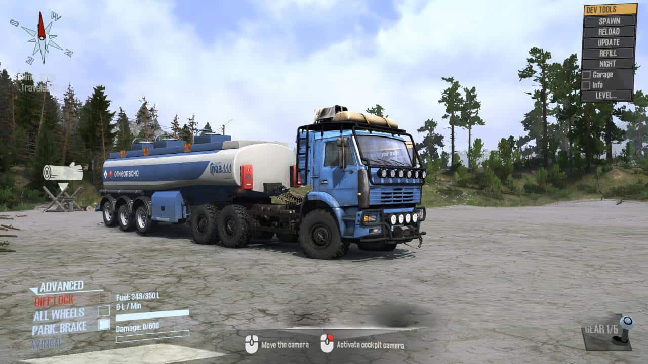 Spintires:Mudrunner - Kamaz 6522 Truck V2.0