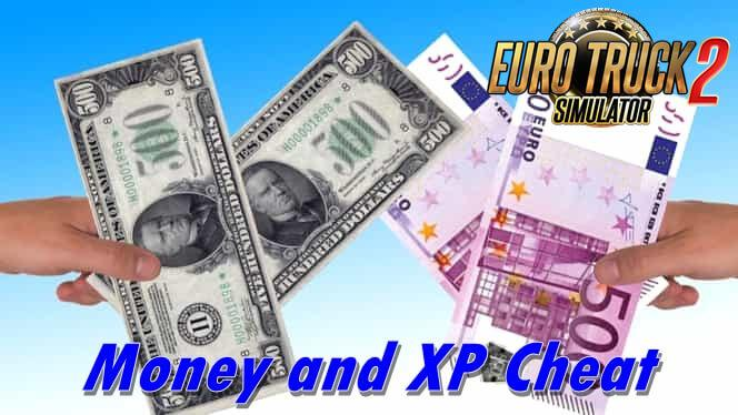 ETS2 - Money and XP Cheat (1.38.x)