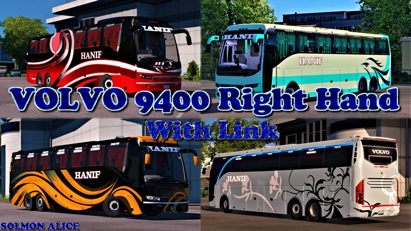 ETS2 - Volvo 9400 Right Hand V1.0 (1.35.x)