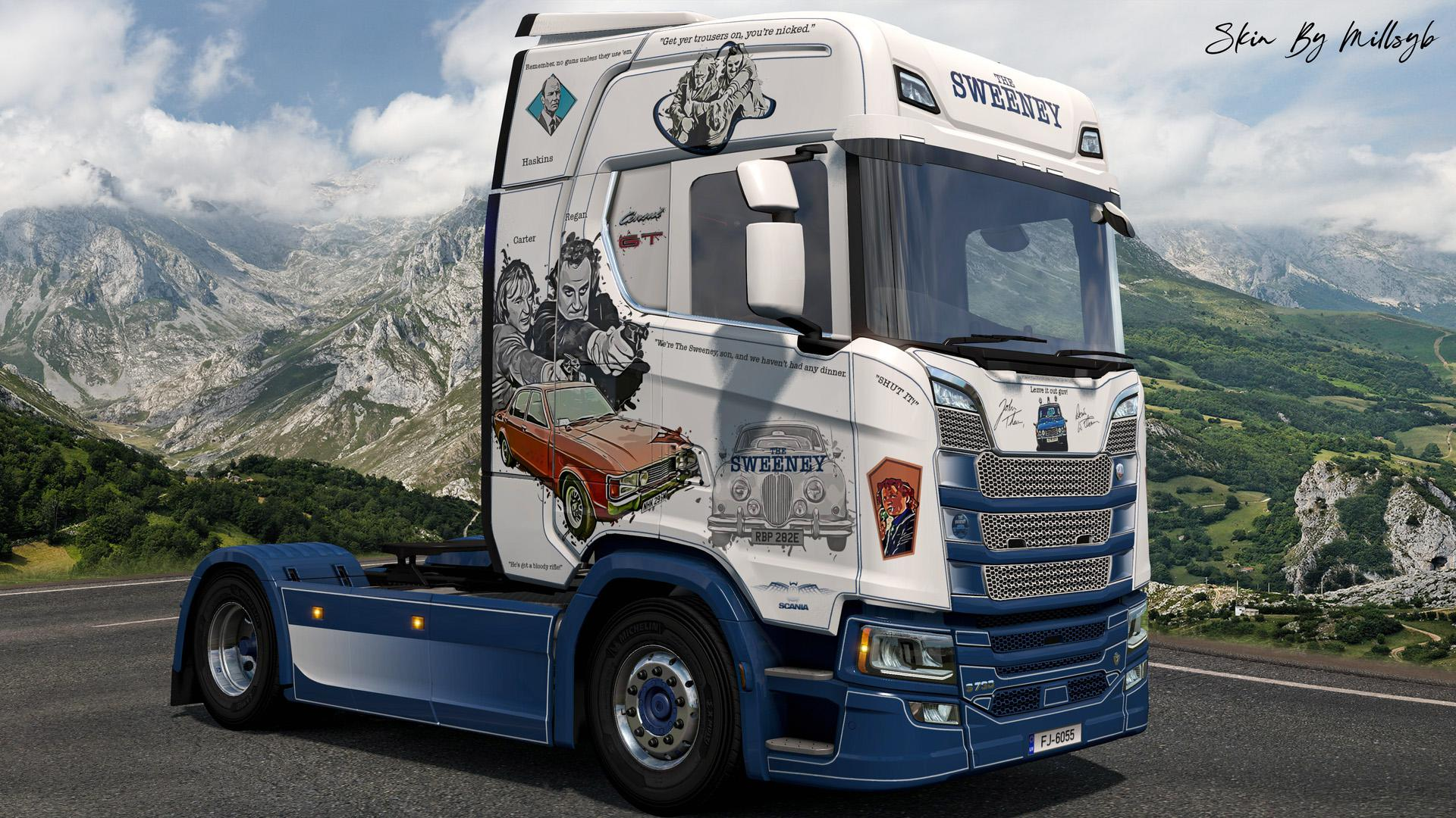 ETS2 - The Sweeney NG Scania Skin V1.0 (1.36.x)