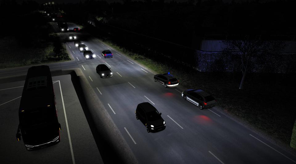 ETS2 - Realistic Headlight Beam Pattern V3.0 (1.36.x)