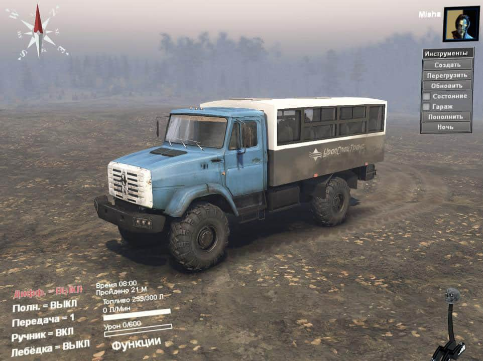 Spintires - 16 Zil Project X4334 Truck