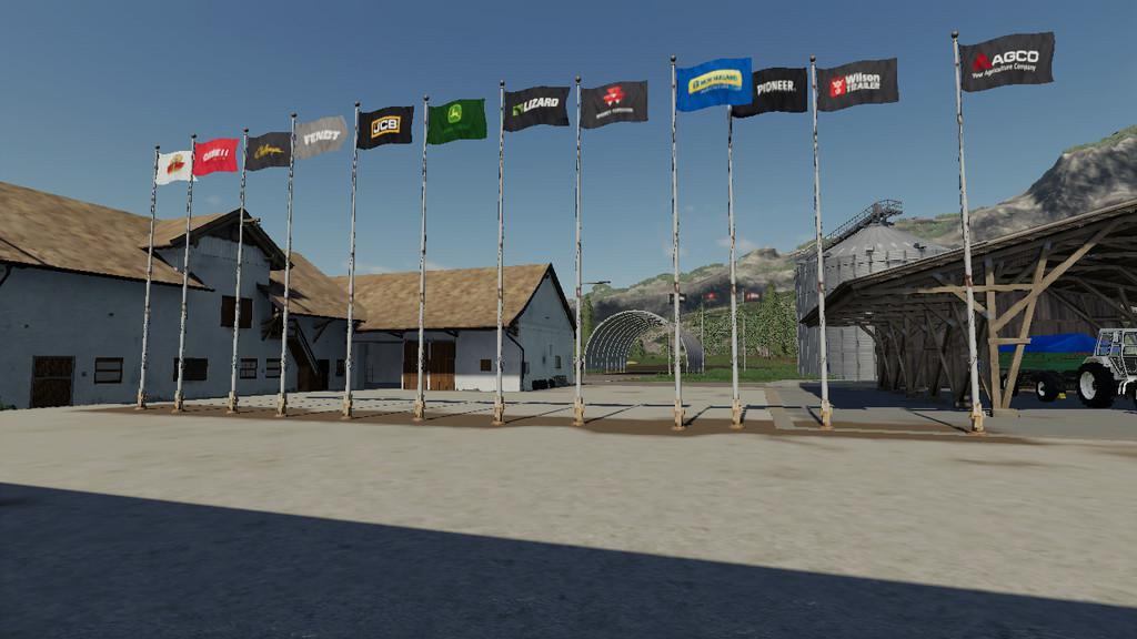 FS19 - Placeable Flags V1.0