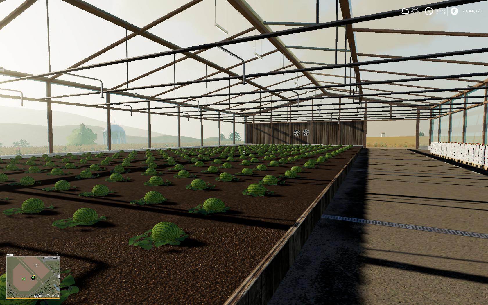 FS19 - Watermelon Greenhouse V1.0