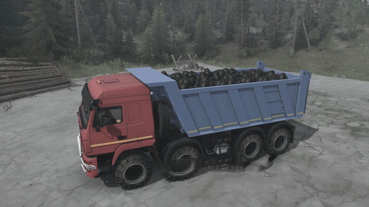 Spintires:Mudrunner - Maz-6516B9 8x8 Truck V18.03.20