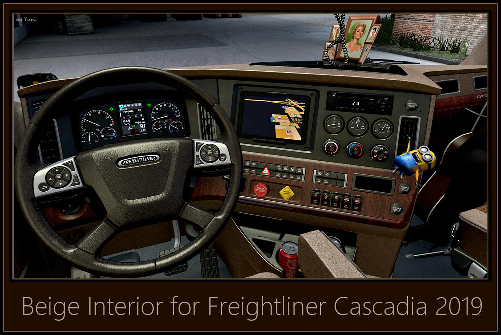 ATS - Beige Interior for Freightliner Cascadia 2019 V0.9 (1.39.x)