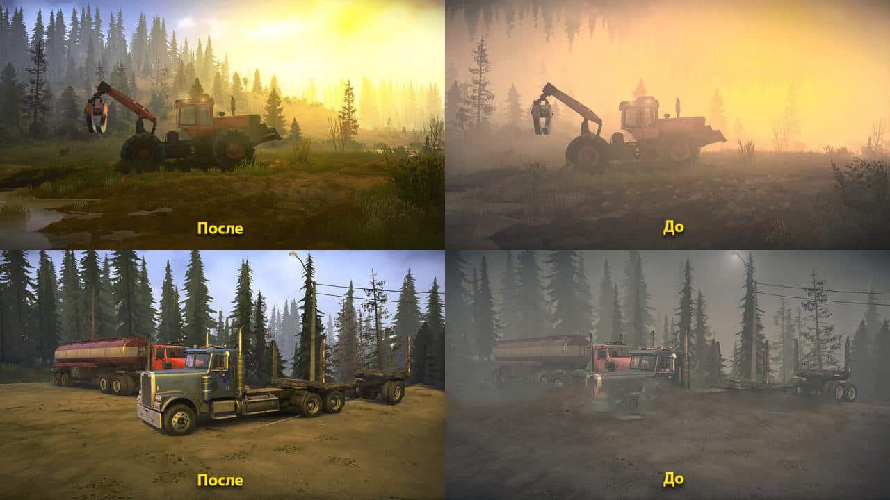 Spintires:Mudrunner - Realistic Graphics Adega Mod Pack V2.9