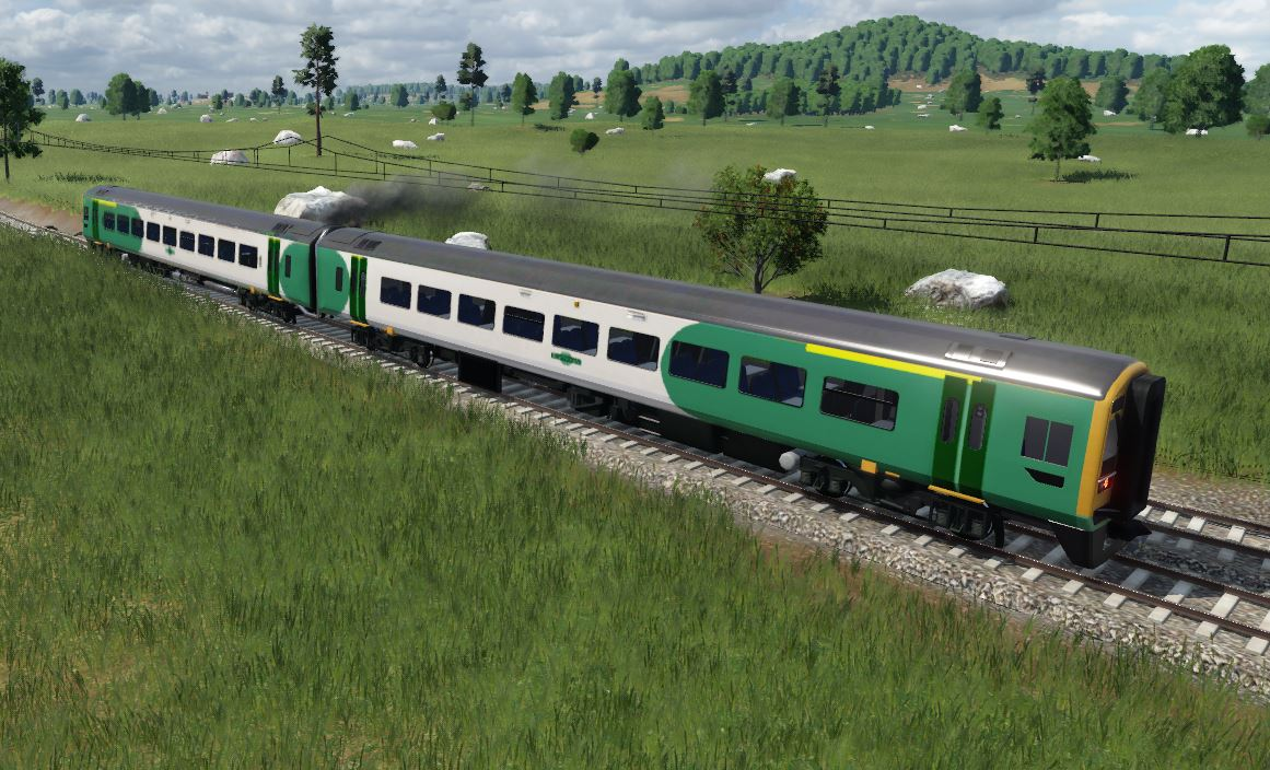 Transport Fever 2 - British Rail Class 158 Southern Rail