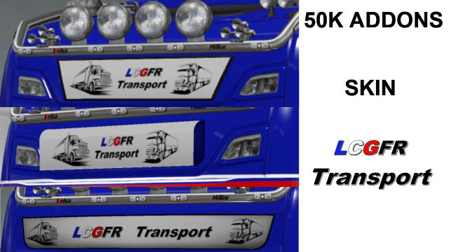 ETS2 - 50k Addons Light Box Sign LCGFR Skin V1.0 (1.35.x)