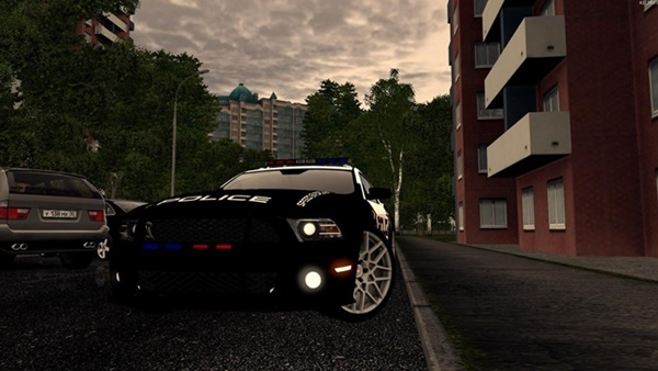City Car Driving 1.5.9 - Ford Mustang Shelby GT500 Police Car