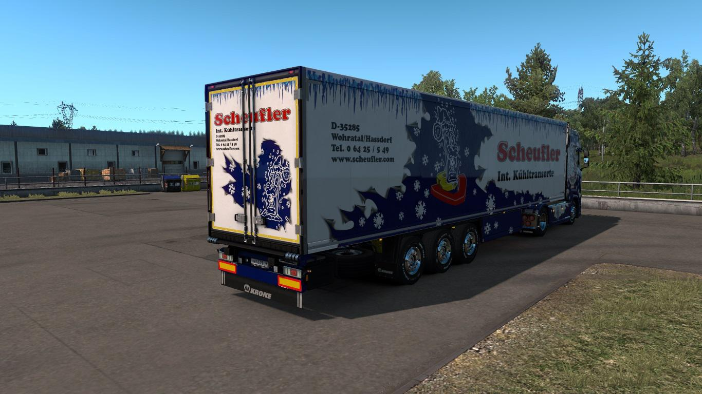 ETS2 - Scania S and Krone Coolliner Scheufler Skins V1.0 (1.36.x)