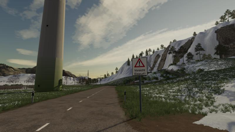 FS19 - Ice Throw Warning Sign V1.0