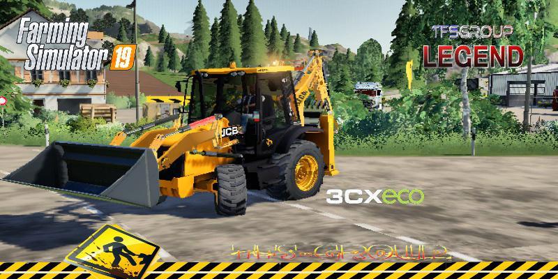 FS19 - Backhoe Loader JCB 3CX Eco V1.5