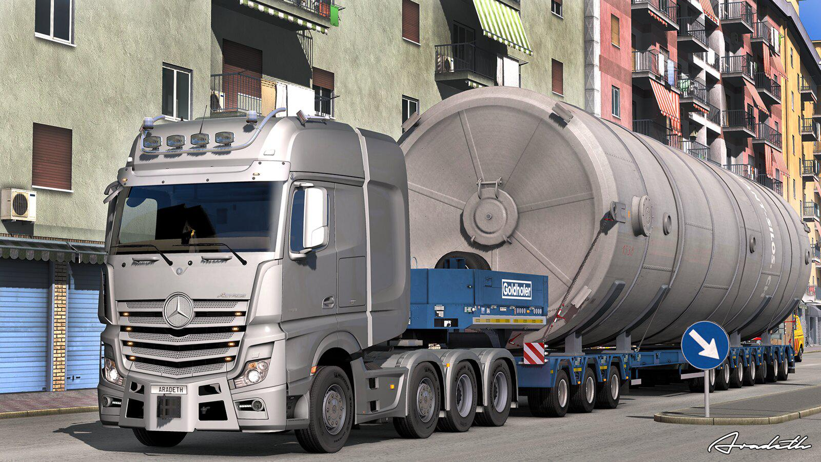 ETS2 - Mercedes Actros Open Pipe Next Stage (1.35.X)