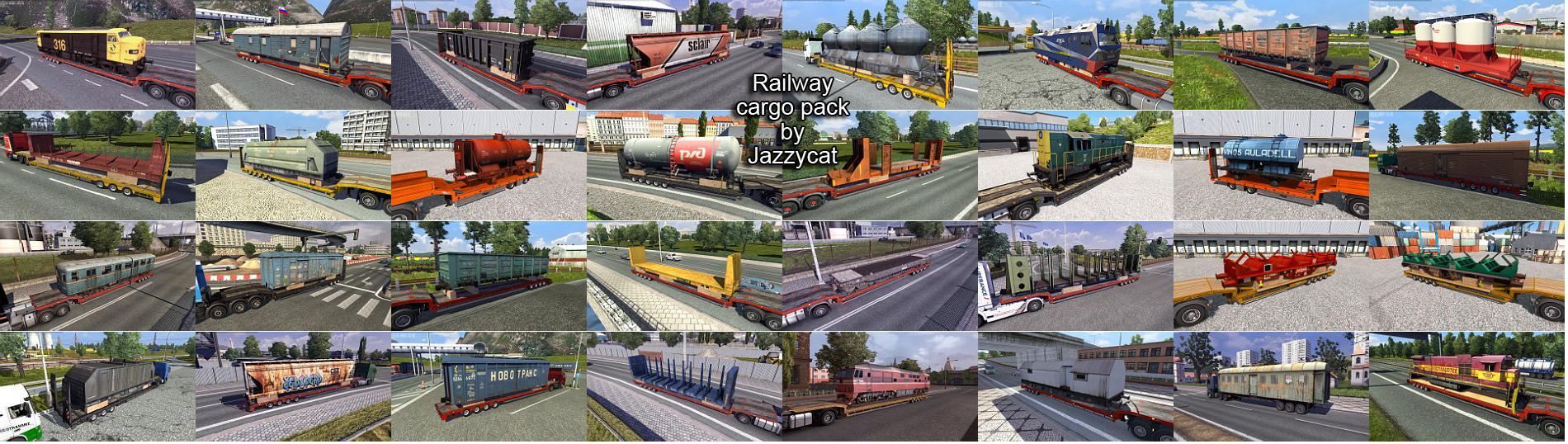 ETS2 - Railway Cargo Pack V2.1 (1.36.x)