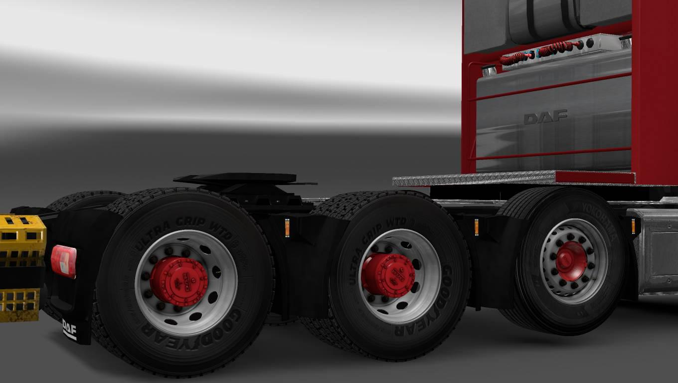 ETS2 - Hub Reduction Axle And Wheel Cover Fixed V1.0 (1.35.X)