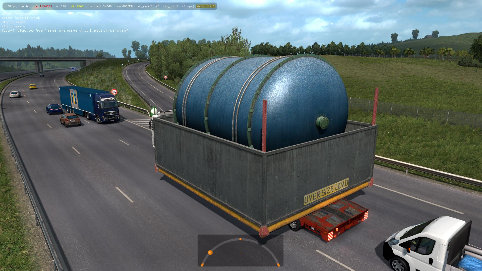 ETS2 - Oversized Trailers - Full Extreme in Traffic Mod (1.39.x)