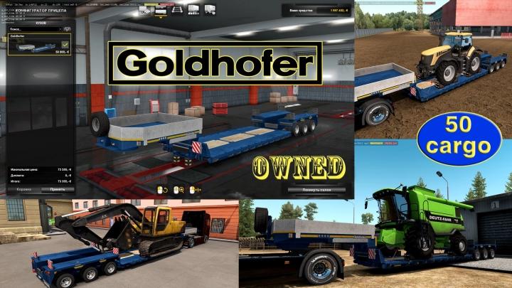 ETS2 - Ownable Overweight Trailer Goldhofer V1.4.7 (1.41.x)