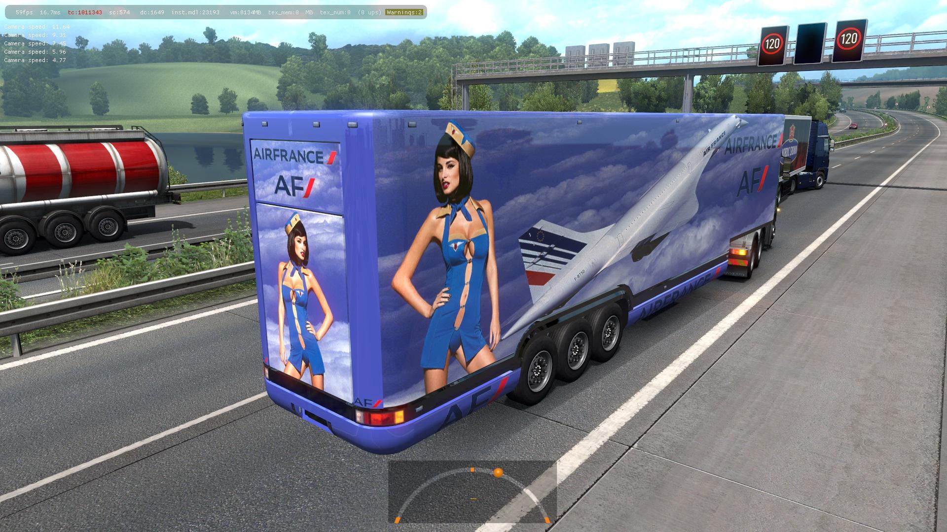 ETS2 - Aerodinamic Trailers in Traffic Mod (1.36.x)