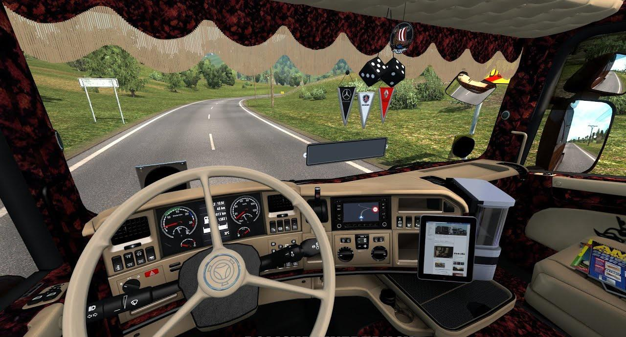 ETS2 - Scania RJL Custom Interior V1.0 (1.37.x)