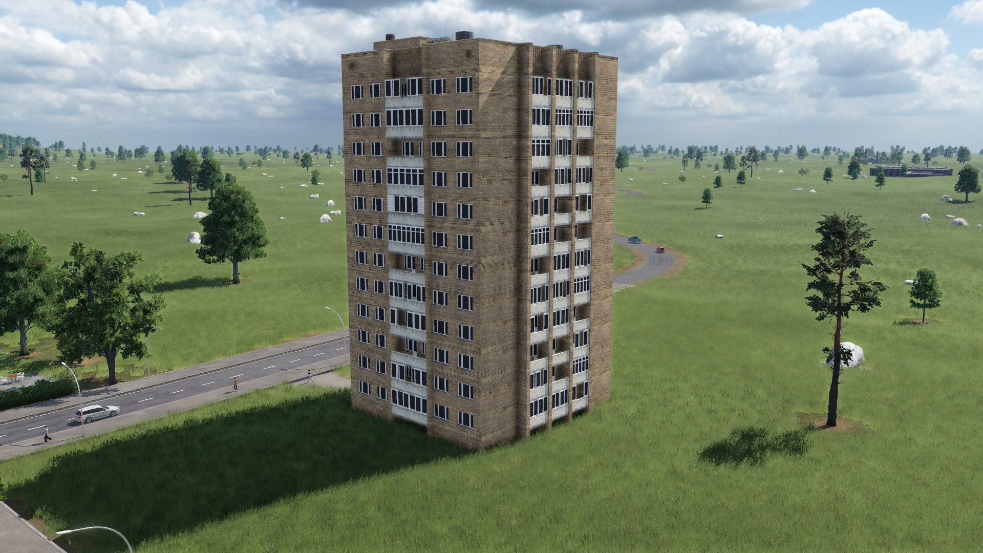 Transport Fever 2 - House Series II-67-Tishinskaya Tower