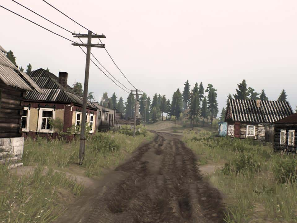 """Spintires - Challenge Map """"Two Shores of The Village"""" V1.0"""