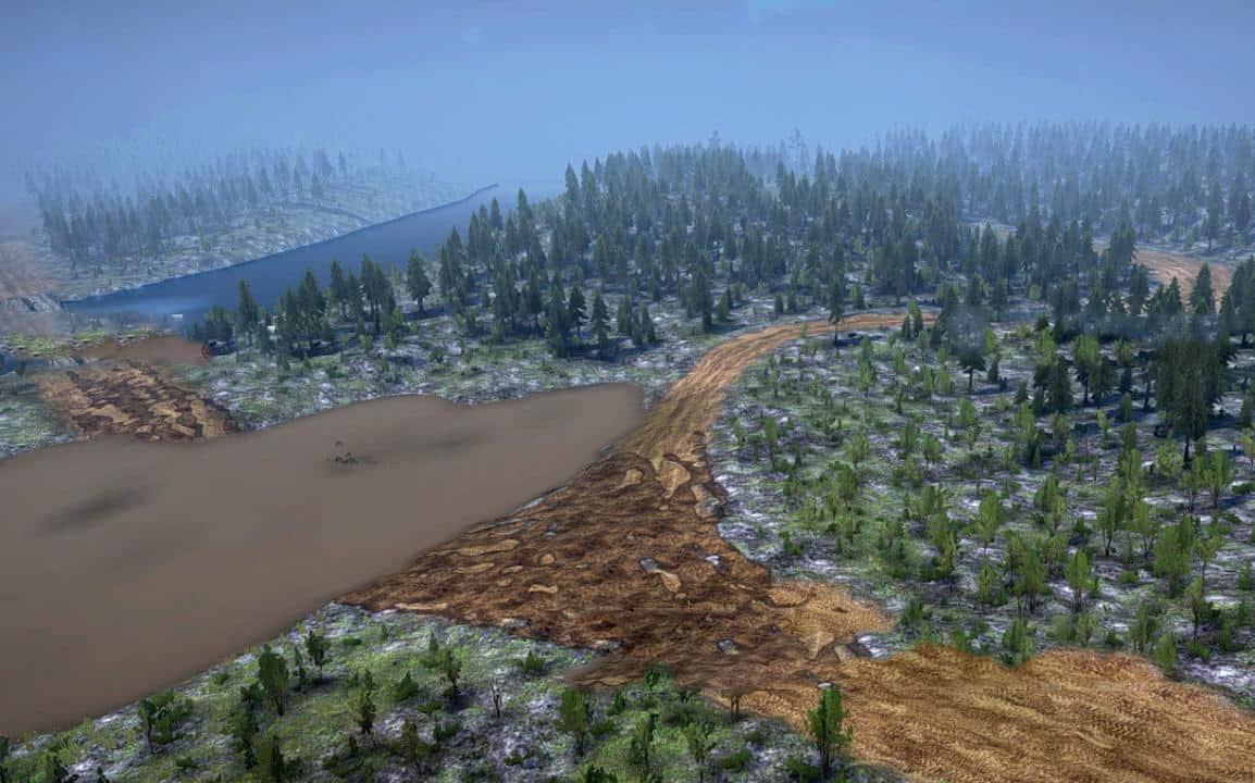 Spintires:Mudrunner - Round Forest Map V1.0