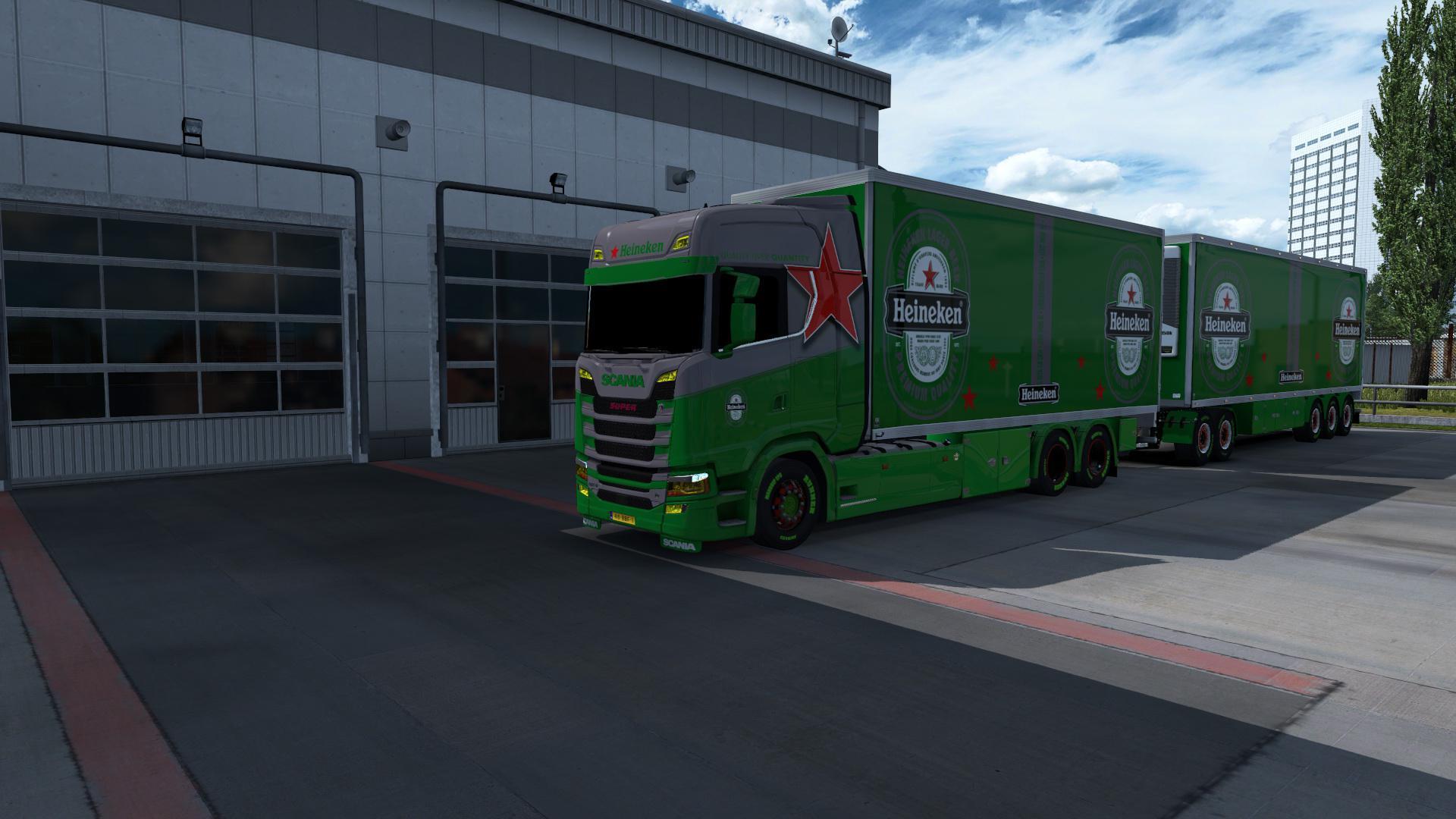 ETS2 - BDF Tandem Heineken Skins V1 (1.37.x)