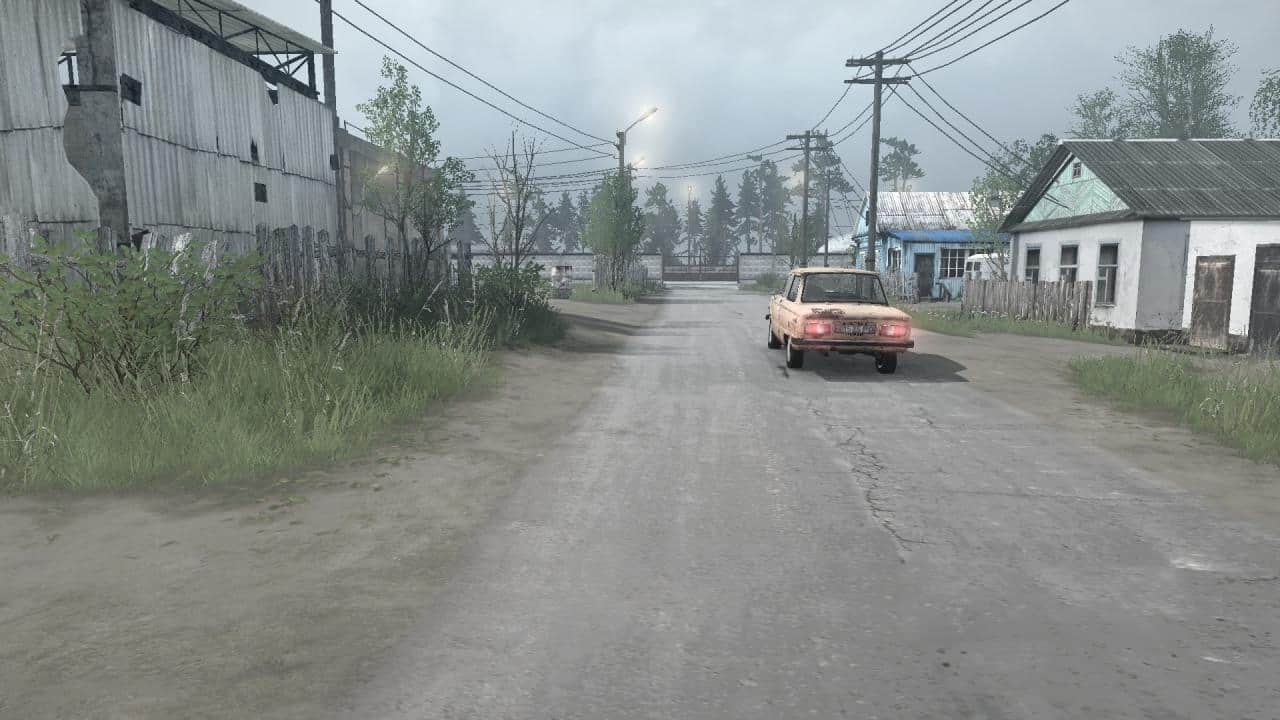 Spintires:Mudrunner - Two Villages: Town Map V1